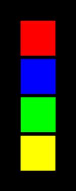 Color on Black background