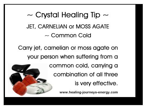 Crystal Healing Tip - Colds & Flu