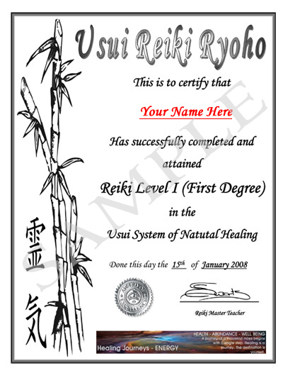 pin reiki certificate printable - photo #23
